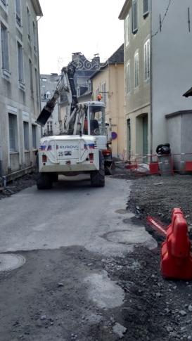 Travaux rue Palassou