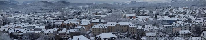 Oloron sous la neige