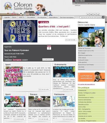 Page d'accueil site Internet Oloron