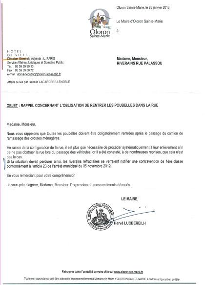 Lettre du maire aux riverains Palassou007