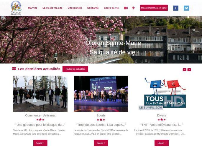 Site internet de la ville