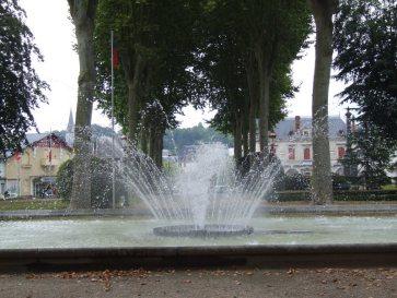 Jardin Public - le jet d'eau