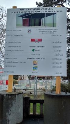 Jardin public - panneau d'info