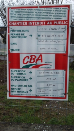 Jardin public - permis de construire