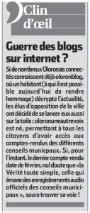 Le clin d'oeil de La République du 30.07.2016