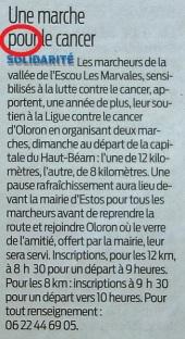 Marche pour le cancer