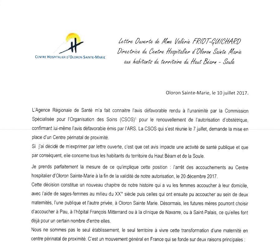 Lettre ouverte de Valérie Friot-Guichard