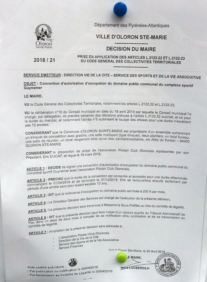 Convention PCO - arrêté municipal