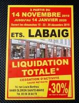 Affiche liquidation Ets Labaig
