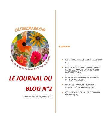 Le Journal du blog n°2