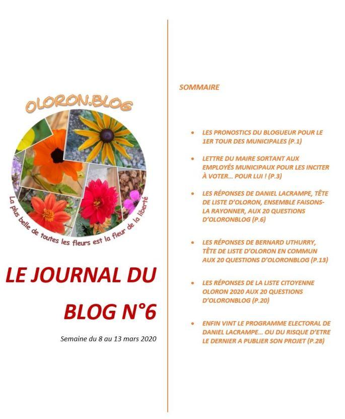 Le journal du blog n°6